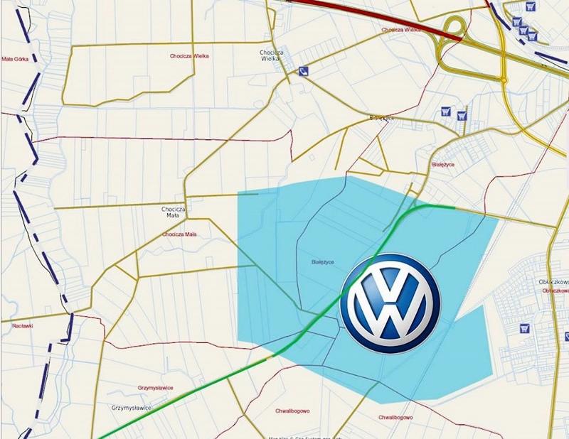 VW Września namapie
