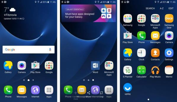 samsung galaxy s7 - touchwiz w android 6.0 (by Expert Reviews)