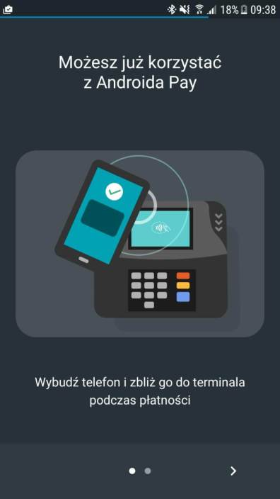 Android Pay - dziala z mBankiem