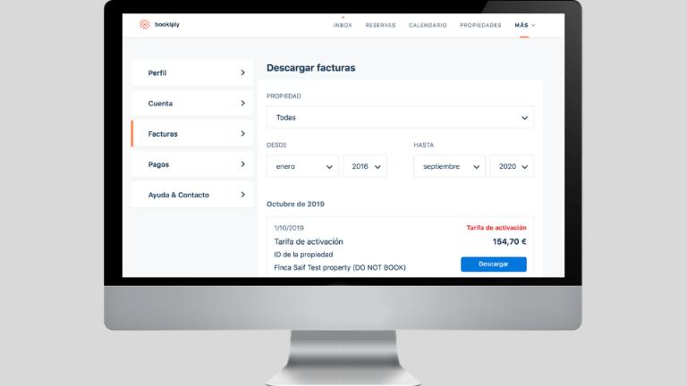 Cómo descargar facturas en la herramienta Bookiply