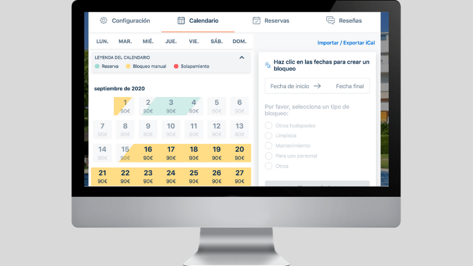 Cómo crear y editar bloqueos manuales en tu calendario Bookiply