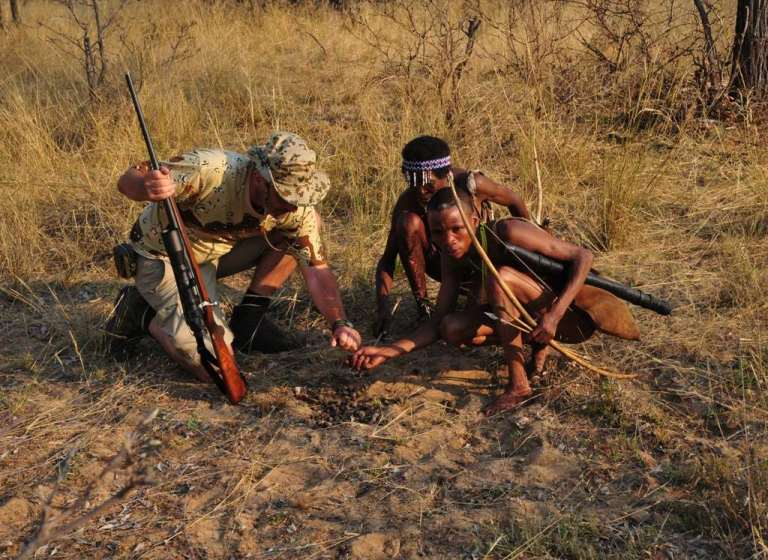 Some safari operators offer hunting with bushmen trackers