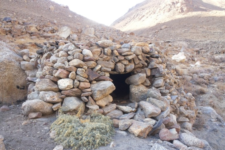Shepherds' pasture shelter in Tajikistan
