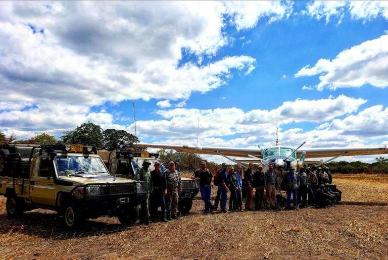 a team for an african safari