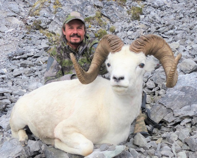 James Reed with a magnificent Dall Sheep he harvested in Alaska