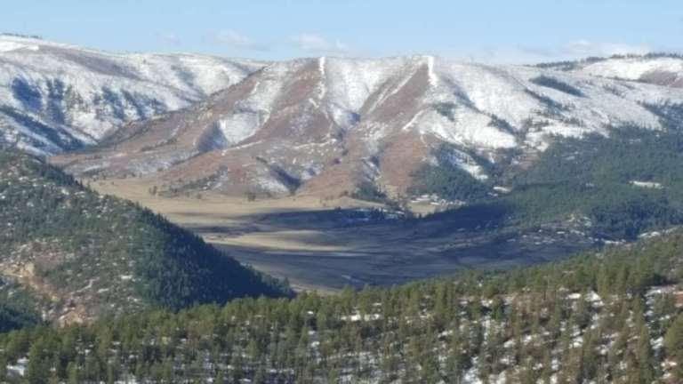 A mountain valley in Colorado
