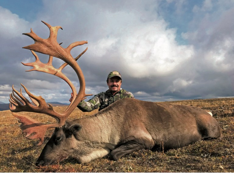 James Reed with his caribou bull trophy