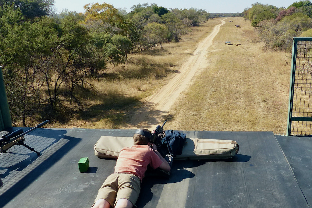 shooting from a platform