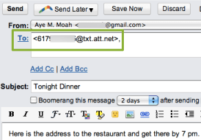 How to schedule text message in Gmail with Boomerang