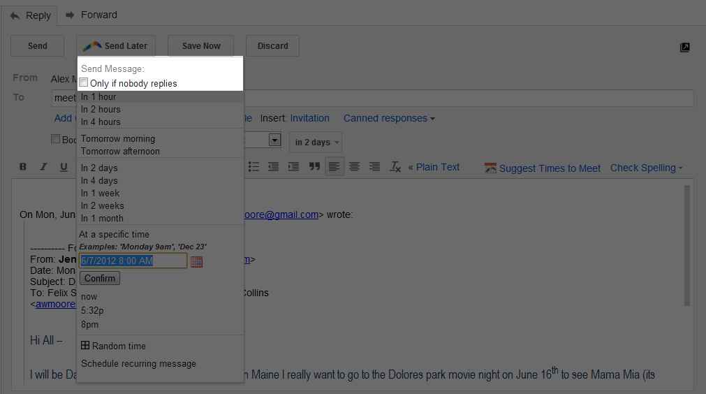 Automate your follow-up emails  Send Later if No Reply is