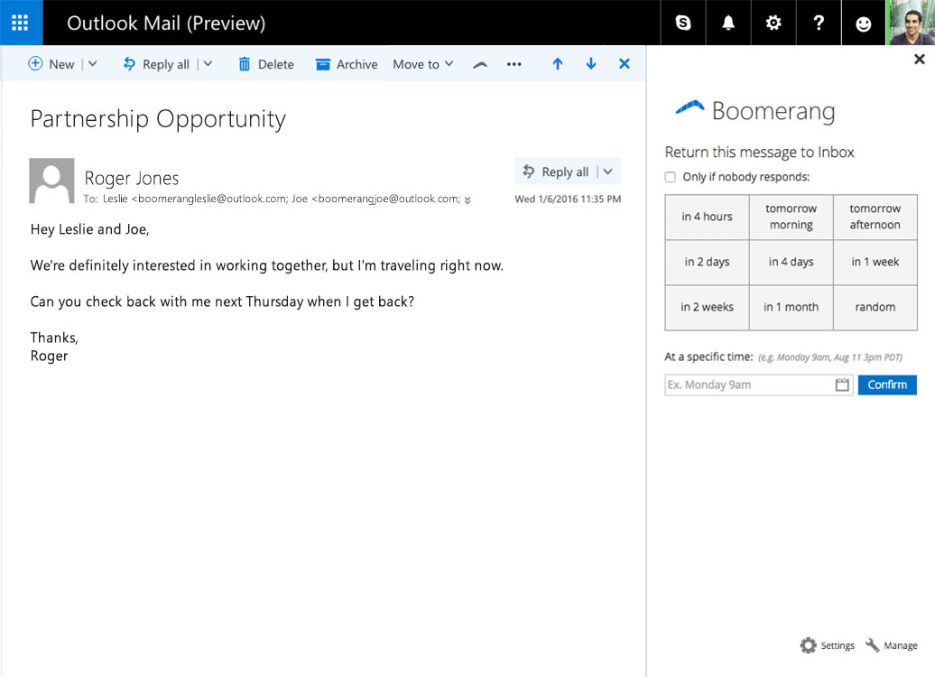make outlook email