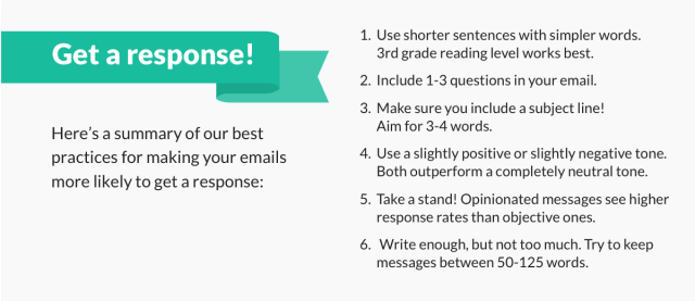 Best practices to get email response