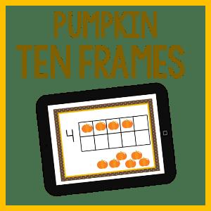 Pumpkin Ten Frames by Jennifer K Oglesby