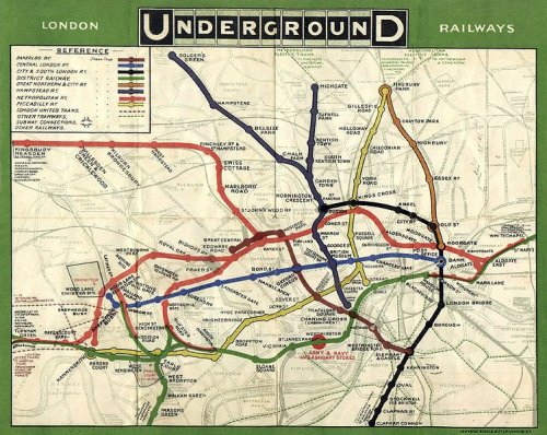 London tube map1908