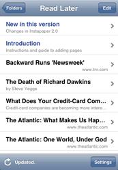 Instapaper extras: iPhone app