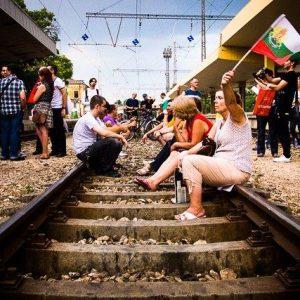 Blocking the railroad