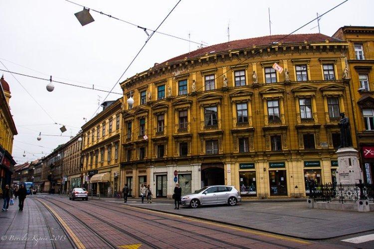 Old shopping street in Zagreb