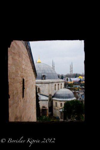 Through the window of Hagia Sophia