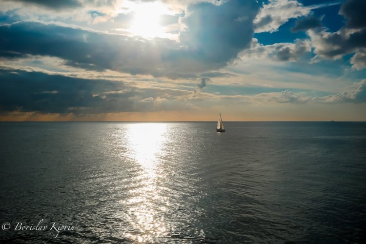 The boat and the sea