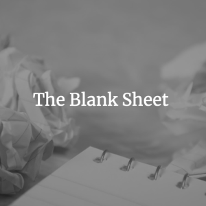 The Blank Sheet