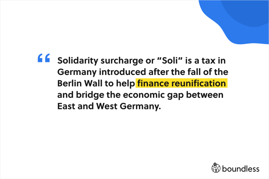 solidarity surcharge in Germany