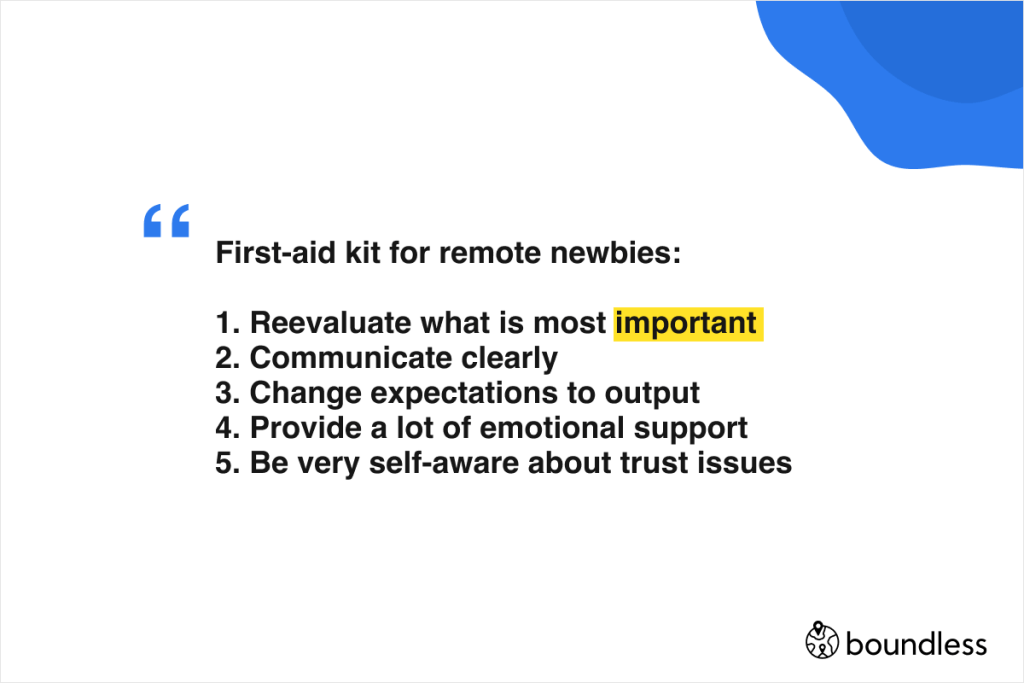 how to support those working remotely for the first time