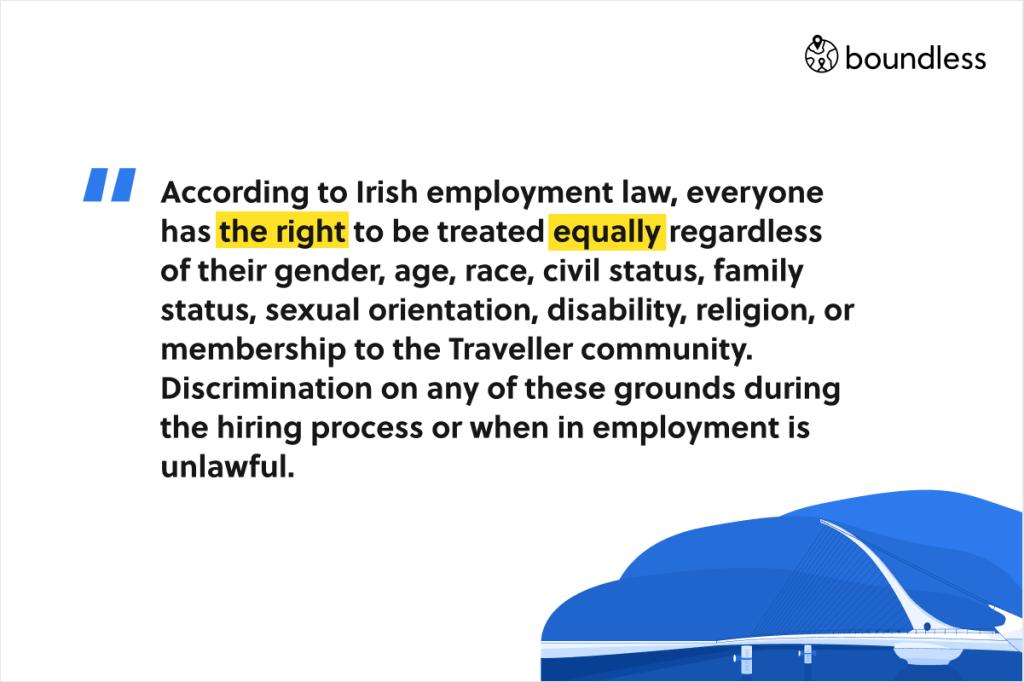 anti-discrimination employee law in Ireland