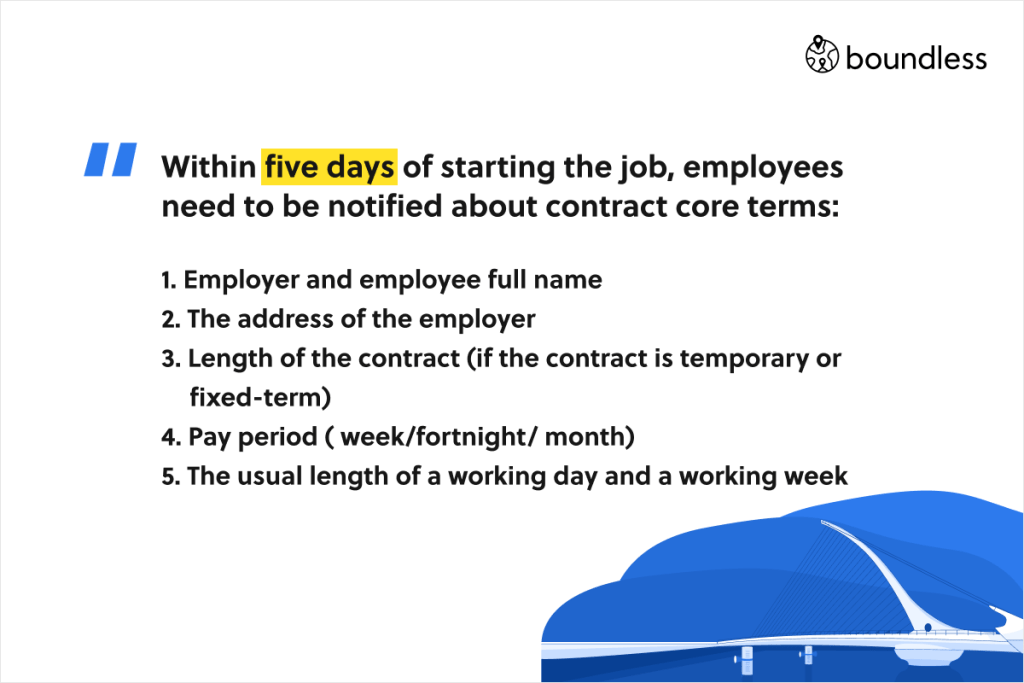 contract terms in Irish employment law