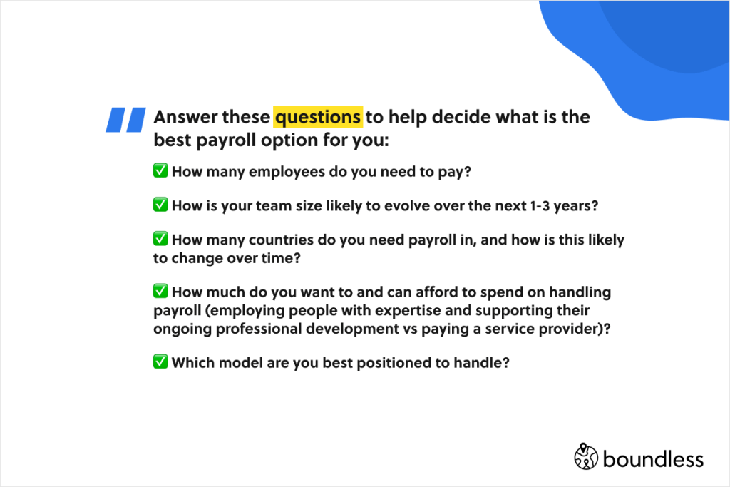 how t decide what is the best payroll option