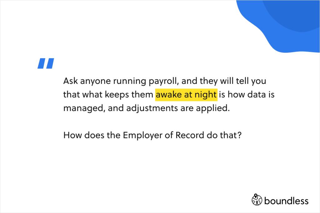 data management is key when running payroll