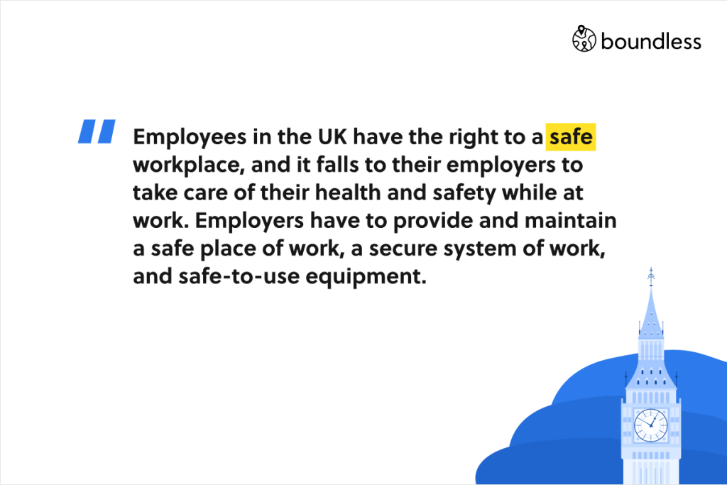 employee right in the UK about a safe workplace