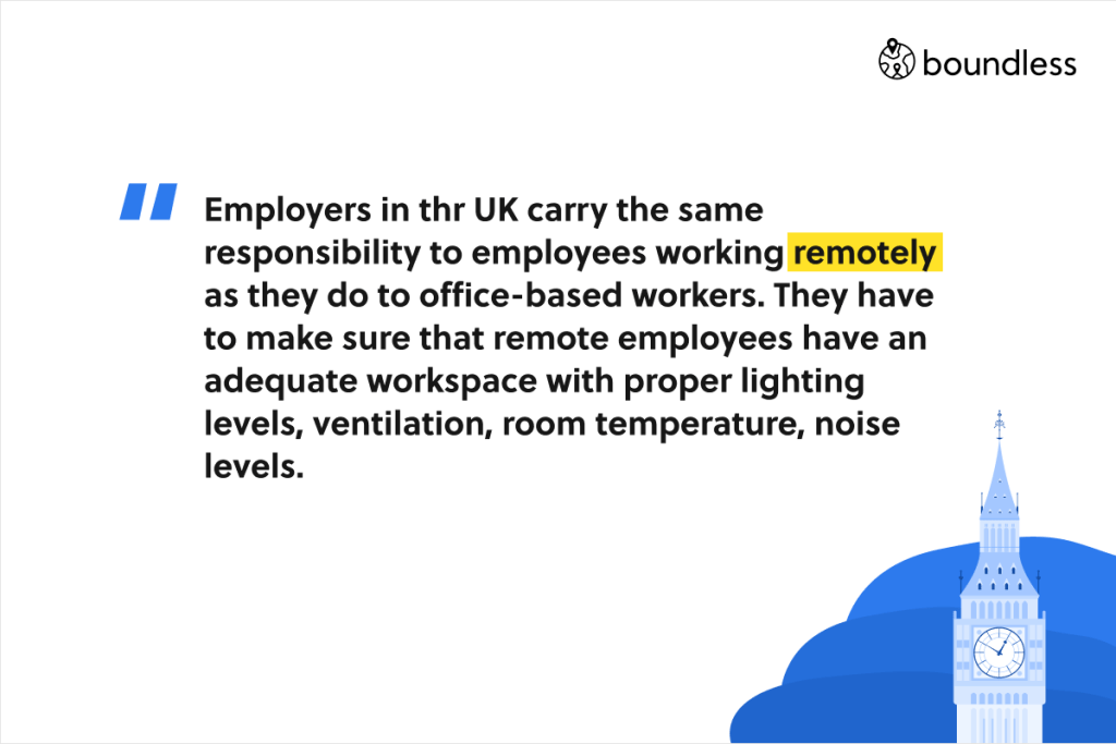 remote employees have the same rights as office employees about their workspace