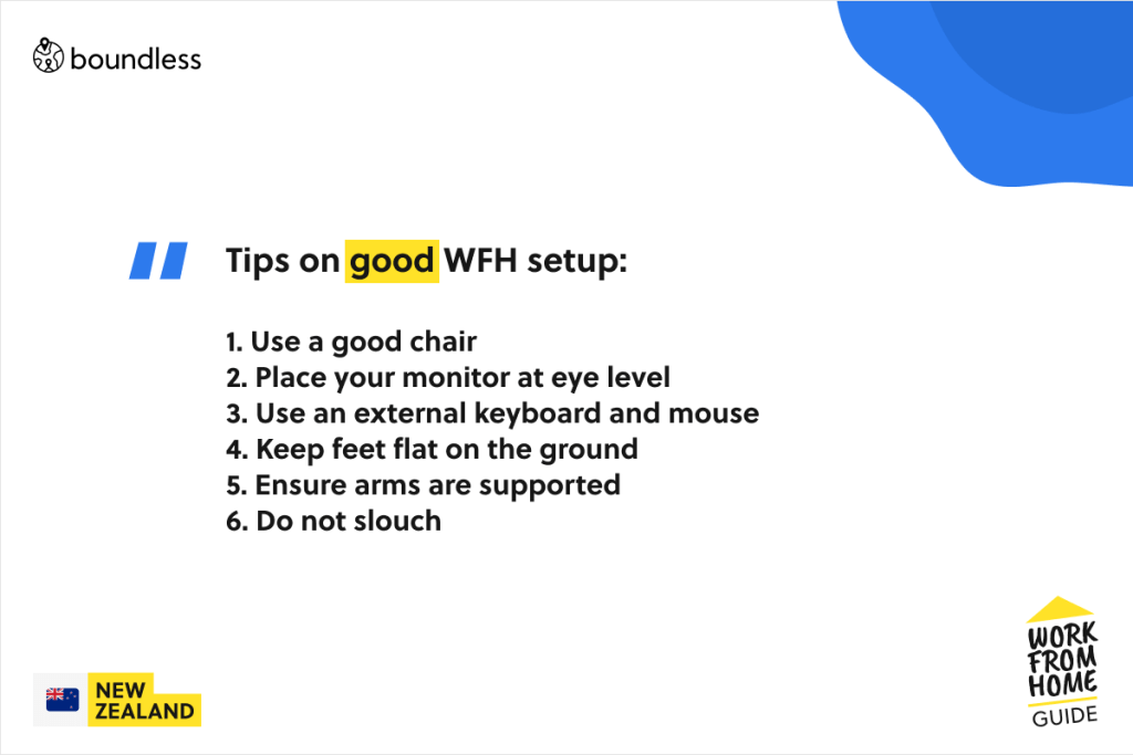 tips for a great wfh setup