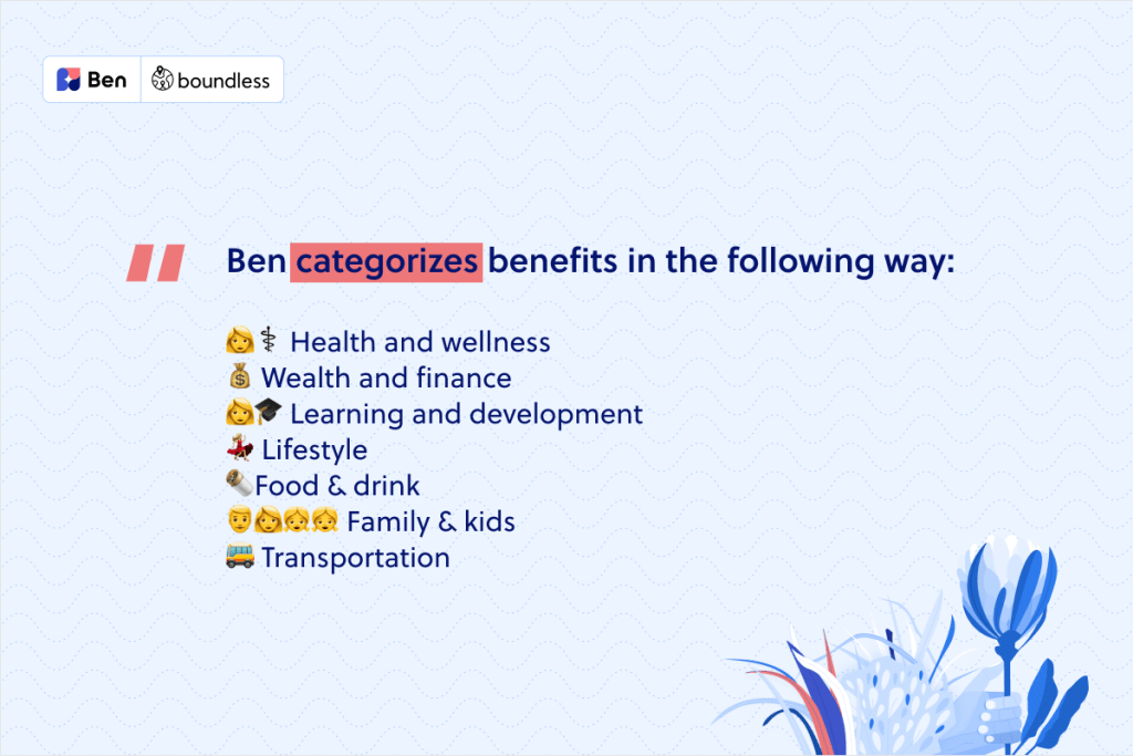 hw to categorise benefits