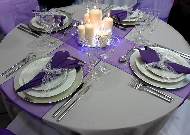 Dco De Table Pour Noel Violet Dcor De Nol Blog
