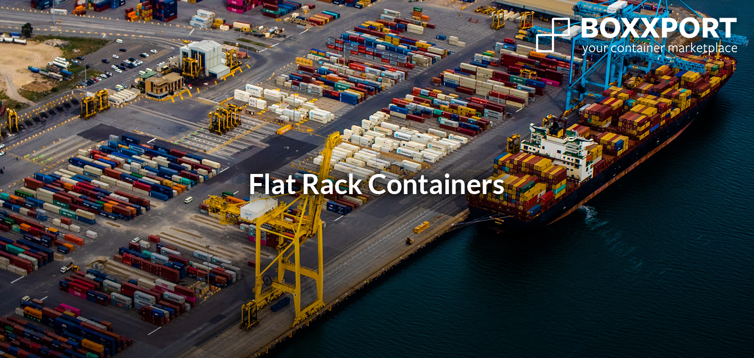 20' flat rack containers in Germany