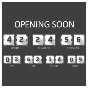 A countdown timer for a product launch with the title of Opening Soon. It counts down the hours, minutes, seconds, days.