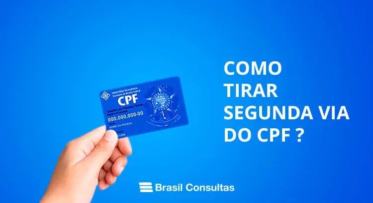 Como tirar segunda via do CPF?