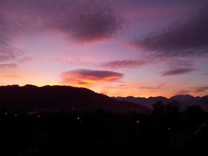 Szenenwahl: Sonnenuntergang