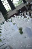 Die Tischdeko in der Hochzeitslocation