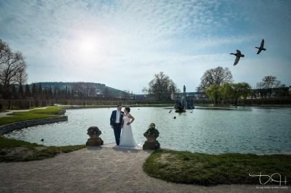 Traumhafte Hochzeitsbilder in traumhafter Umgebung! Euer Hochzeitsfotograf im Rokokogarten.