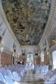 Der Hochzeitsfotograf fotografiert den wunderschoenen Hirsvogelsaal.
