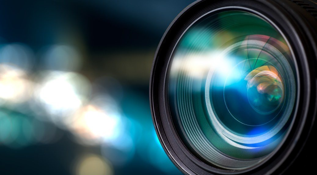 Camera lens with blurred lights