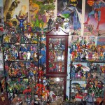 NKOTB with Marvel and DC figures