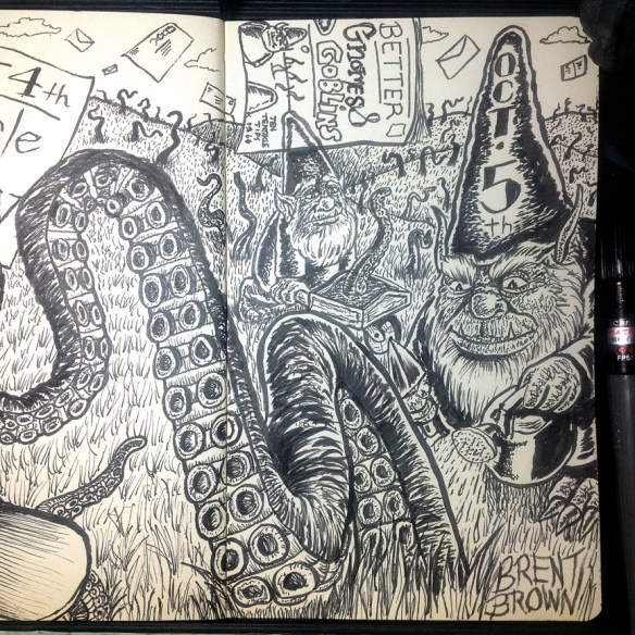 """Better Gnomes & Goblins"" ink. Click to Enlarge"