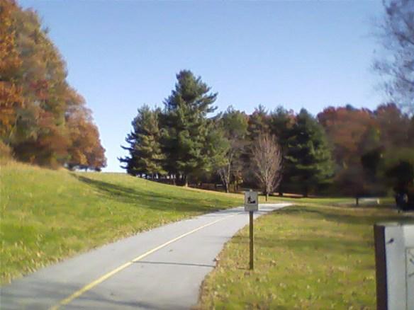Jackson Park part of path.