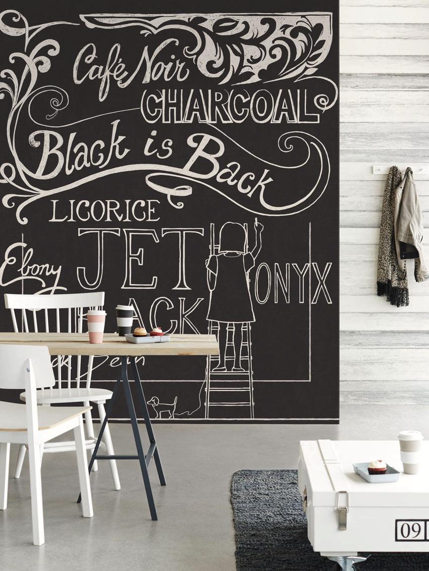 chalkboard wall mural