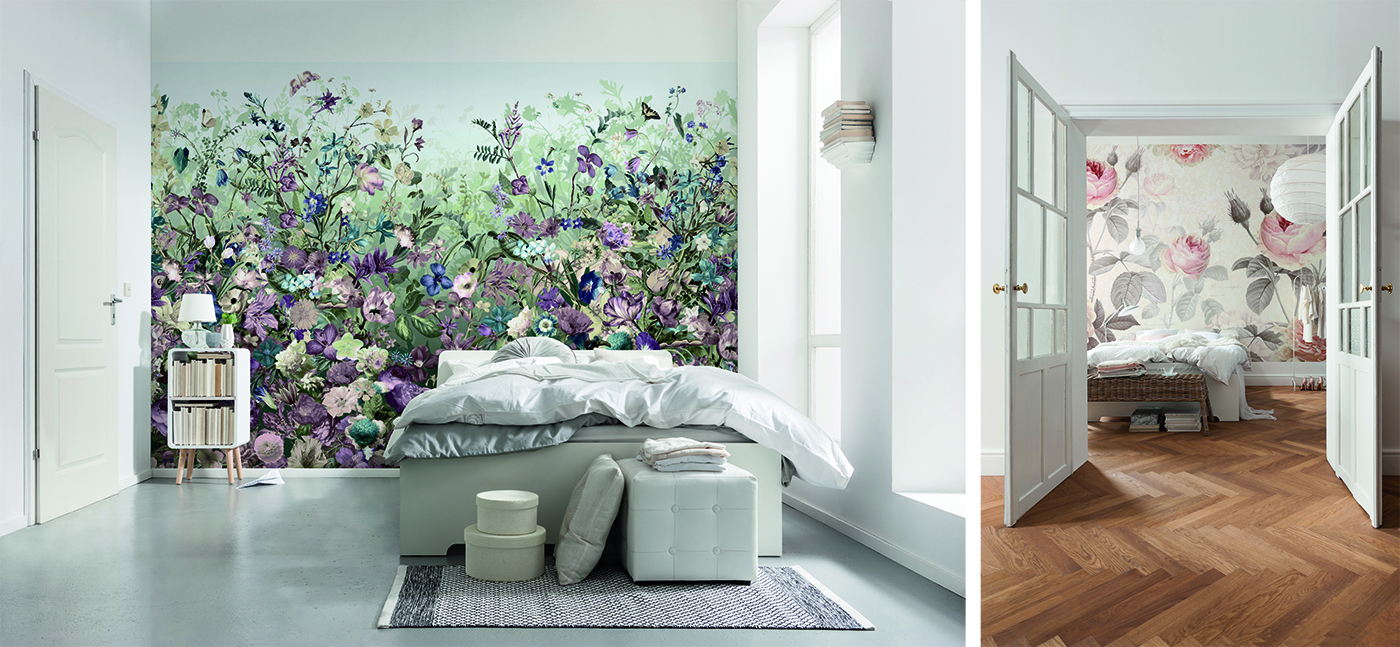 botanical wall mural