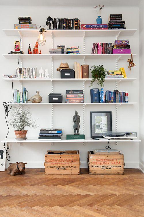 beautifully arranged shelves