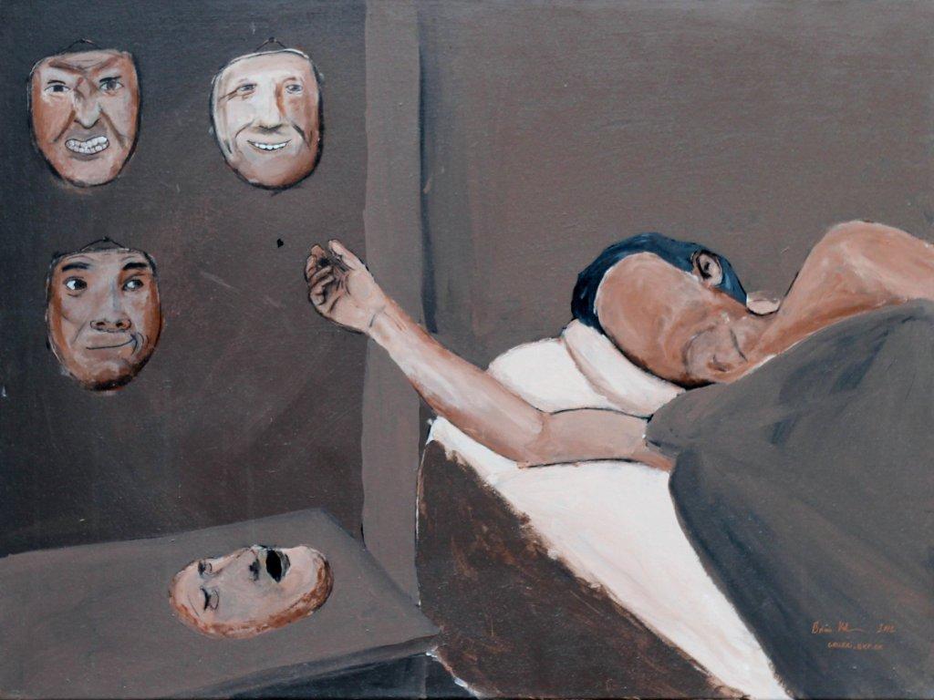 Maskevalg - maleri 60x80